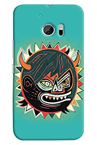 Omnam Sun In Annoying Mood Printed Designer Back Cover Case For HTC 10