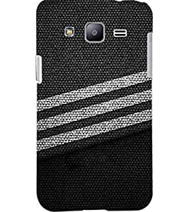 PrintDhaba LINES PATTERN D-6596 Back Case Cover for SAMSUNG GALAXY J2 (Multi-Coloured)