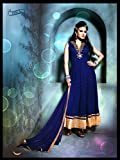 Blue Net Handwoven Anarkali Salwar Suit By Aryaa Fashion