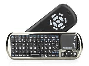 TaoTronics® Mini Clavier et Souris de Bluetooth avec télécommande IR et touchpad , AZERT , technologie interactive de voix , support Windows 2000/XP/vista/7/win CE, linux, MAC OS iOS, iPad , tablette , Google, android 4.0