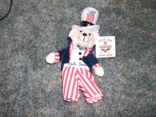 Collectible Uncle Sam Stamp Bear by USPS - 1