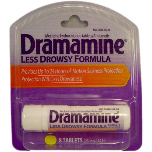 Dramamine Less Drowsy Formula -- 8 Tablets