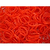 800 Latex-Free Rubber Band Bracelet Refill Pack Red And 24 S-Clips LOOM02A05