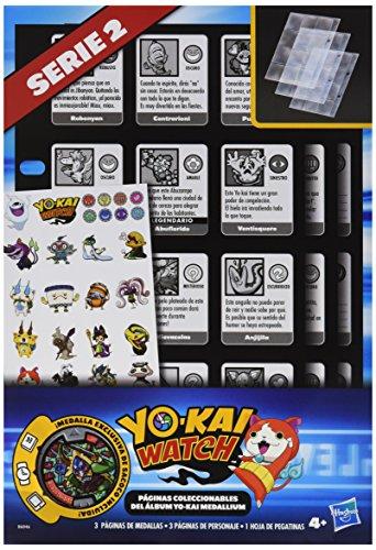Hasbro-B6046105-Yokai-Watch-Pginas-coleccionables-lbum-Medallium-modelos-surtidos-1-unidad