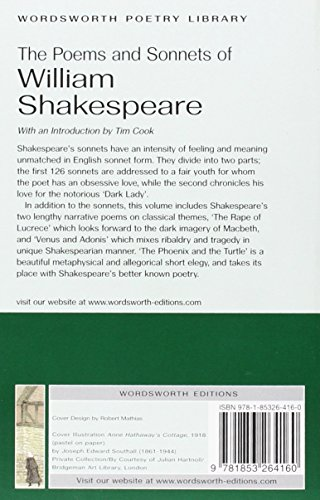 The Poems and Sonnets of William Shakespeare (Wordsworth Poetry Library)