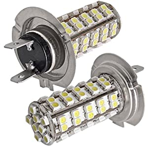 2pz lampade lampadine h7 68 led 3528 smd chips bianco for Lampadine h7 led