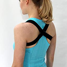 The 2 in 1 Posture Brace | Posturific Brace.com (Medium, Black)