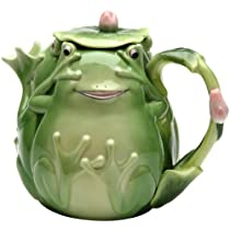 Appletree 5-1/4-Inch Fairy Frog Porcelain Teapot