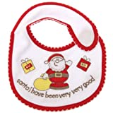Baby Unisex Christmas Bib With Velcro -Santa Claus/Teddy Options