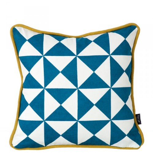 Little Geometry Cushion, Blue