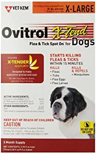 Ovitrol 3-Pack X-Tend Pest Control Spot on for Dog, 81-Pound Plus