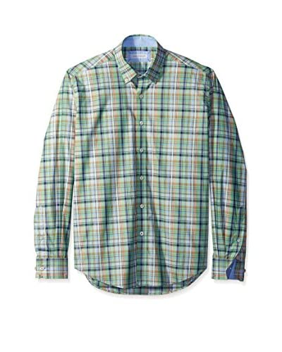 Alex Cannon Men's Long Sleeve Button Down Check Shirt