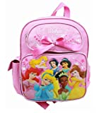 Small Backpack - Disney - Princess - Pink - 7 Princess with Bow