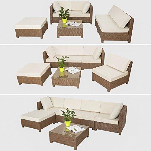 Teak Gartenmobel Pflegen : Polyrattan Gartenmöbel Luxus Sofa Set 5060 L Mit Tisch Schwarz
