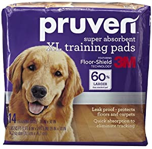 Pruven PP-XL-14  Super Absorbent Training Pads with X-Large Pads, 28 by 30-Inch
