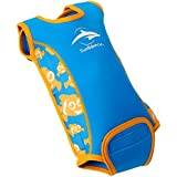Baby wetsuit - BabywarmaTM - neoprene swimsuit - opens flat & wraps round your baby
