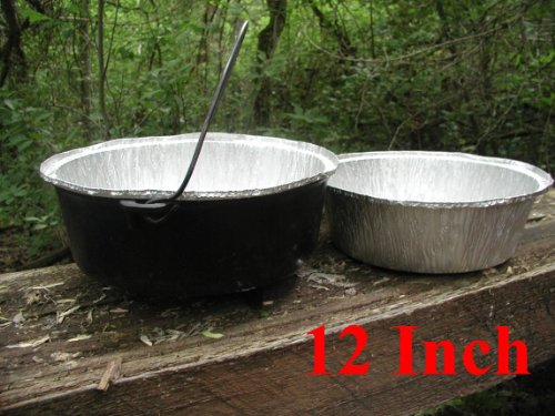 Disposable Foil Dutch Oven Liner, 12 Pack 12 6Q liners, No more Cleaning, Seasoning your Dutch ovens. Lodge, Camp Chef.