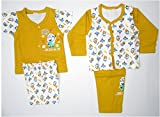 Bubbles Front Open Set of 4 Pc- Cartoon Print New Born (0-3 Months)