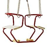 WICKEY Doppelsitz Metall Club Schaukelsitz ROT