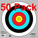 "Archery 40cm & 80cm Targets by Longbow (50 pack, 40cm/approx 17"" (5 Ring))"