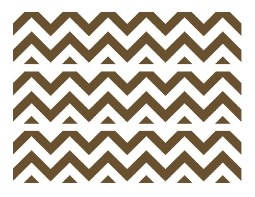 Chevron Print {Brown & White} Edible Cake Border Decorations front-48461