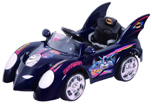 New Kids 6V Black Ride on R/C Remote Control Power Wheels Car RC Ride On Car Batman Dark Knight Rises Childrens