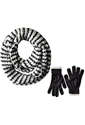 Dearfoams Women's Thick and Chunky Infinity Scarf with Gloves