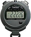 Junsd 309 Digital Handheld/Lanyard Stopwatch - Black