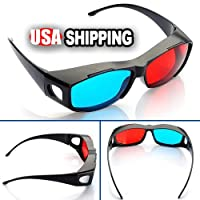 Red-blue / Cyan Anaglyph Simple Style 3d Glasses 3d Movie Game-extra Upgrade Style (1Pcs With Different Style) by MECO Co,.LTD