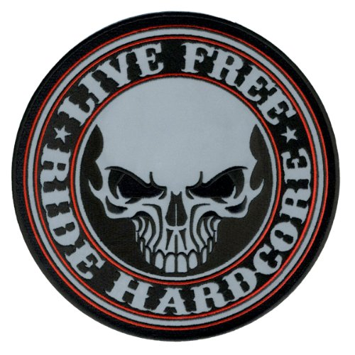 Hot Leathers Reflective Stencil Skull Patch (5