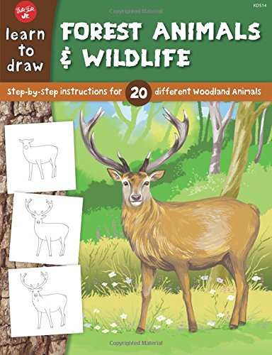 Learn to Draw Forest Animals & Wildlife: Step-by-step instructions for 20 different woodland animals (Walter Foster Learn To Draw compare prices)