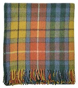 Antique Buchanan Tartan Wool Blanket Travel Rug