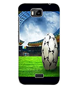 ColourCraft Football Design Back Case Cover for HUAWEI HONOR BEE