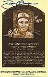 Tony Gwynn autographed Hall of Fame plaque postcard