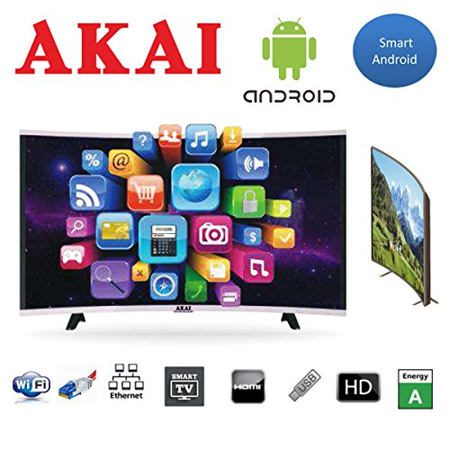 "Smart TV LED 32"" AKAI Curve CTV3225T2 Wifi Digitale Terrestre T2"
