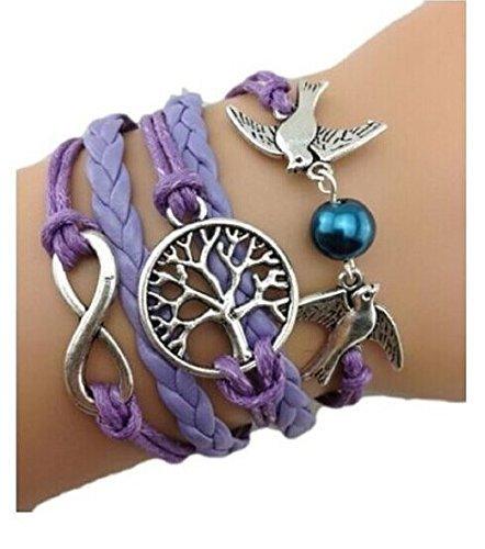 Pulsera Infinito / Árbol de la Vida violeta