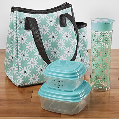 fit-fresh-westerly-insulated-lunch-bag-kit-with-reusable-container-set-and-matching-water-bottle