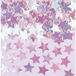 Amscan Mini Stars Iridescent Confetti, 1/4 Oz., Iridescent