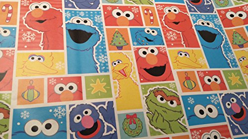 Christmas Wrapping Sesame Street Cookie Monster Holiday Paper Gift Greetings 1 Roll Design Festive Wrap (Homemade Cookie Monster Halloween Costumes)
