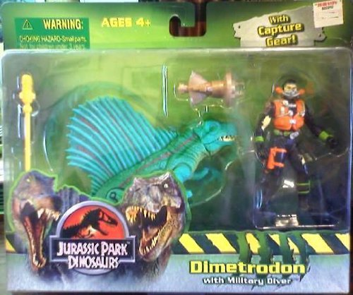 Picture of Hasbro Jurassic Park Dinosaurs - Dimetrodon with Military Diver Figure (B0030H3HYQ) (Military Action Figures)