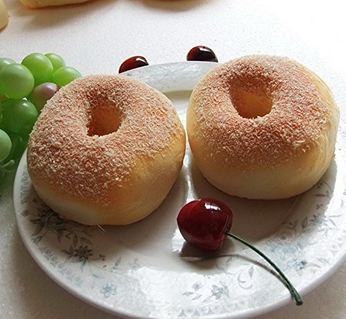 Gresorth 2 pcs fake cake artificial doughnut bread food for Artificial bread decoration