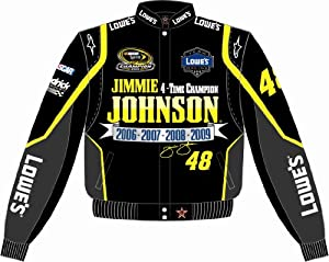 JIMMIE JOHNSON 4 TIME CHAMP JACKET by RacingGifts