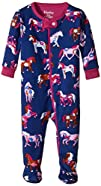 Hatley Baby Girls' Footed Coverall Fl…