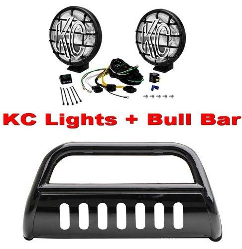 Where to buy premium 3 black bull bar bumper brush guard with skid premium 3 black bull bar bumper brush guard with skid plate c71018 kc apollo aloadofball Choice Image