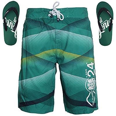 Smith & Jones Ashore Boardshort Swimshorts & Flip Flops Bundle Set
