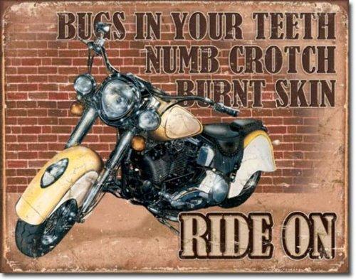 Ride On (Motorcycle) Metal Tin Sign 12.5