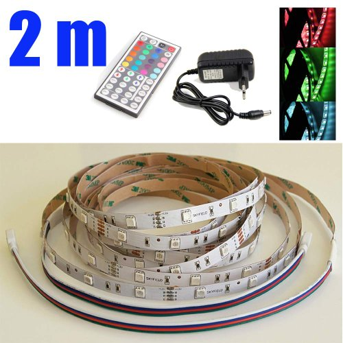 Non-Waterproof Rgb 1-30M 3528 Smd 2M 60 Leds/M Led Strips Light +12V Adapter+Remote Control