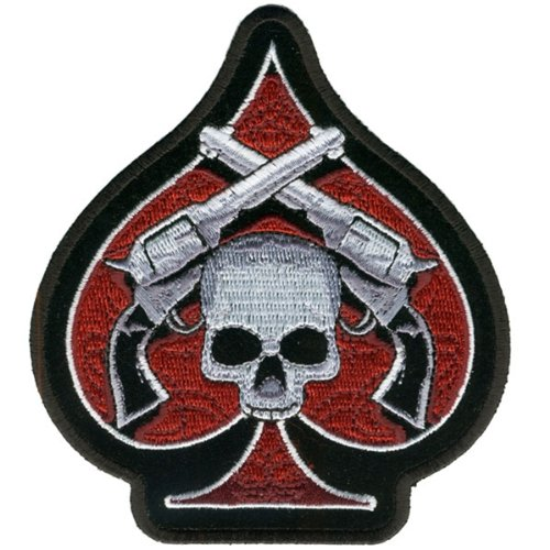 Hot Leathers Skull & Pistols Patch (4