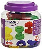 Miniland Plastic Screws and Nuts in Tub (48 Pieces)
