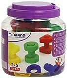 Miniland - Juego educativo de tornillos y tuercas (plástico, 48 piezas)